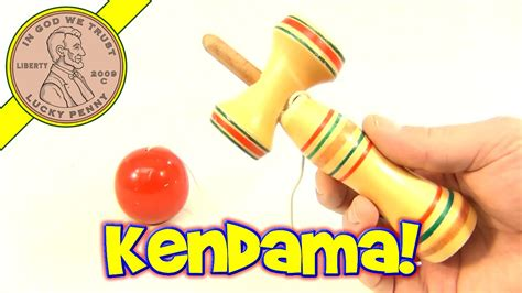 Vintage Japanese Kendama Wood Cup and Ball String Toy