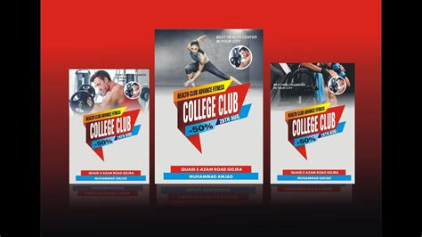 How to Make Gym Poster Design Using CorelDraw X6 - YouTube