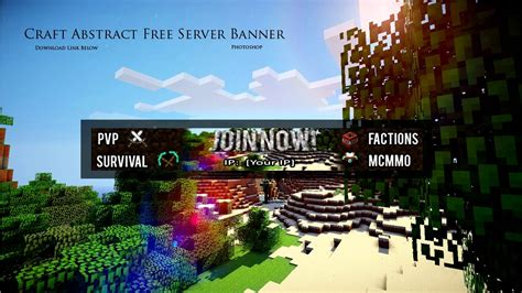 FREE Minecraft Server Banner Template!   Download   For