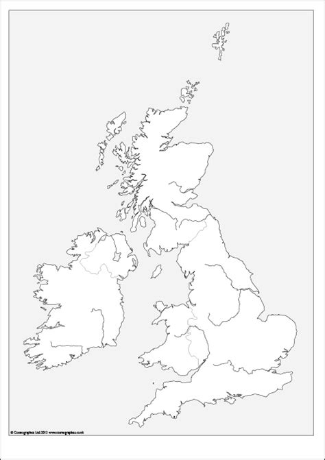 Free outline Map of the British Isles - It's Free