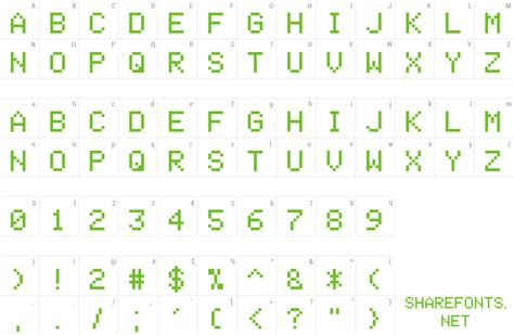 Download Free Font Space Invaders