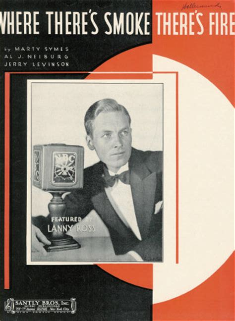 Sheet Music: Where There's Smoke There's Fire - Lanny Ross