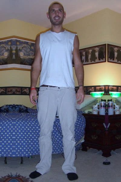 """Photographic Height/Weight Chart - 6' 1"""", 170 lbs"""