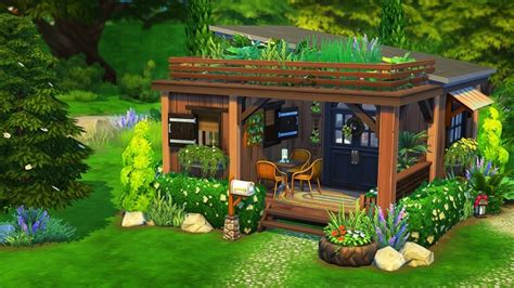 TINY OFF-THE-GRID HOUSE at Aveline Sims » Sims 4 Updates