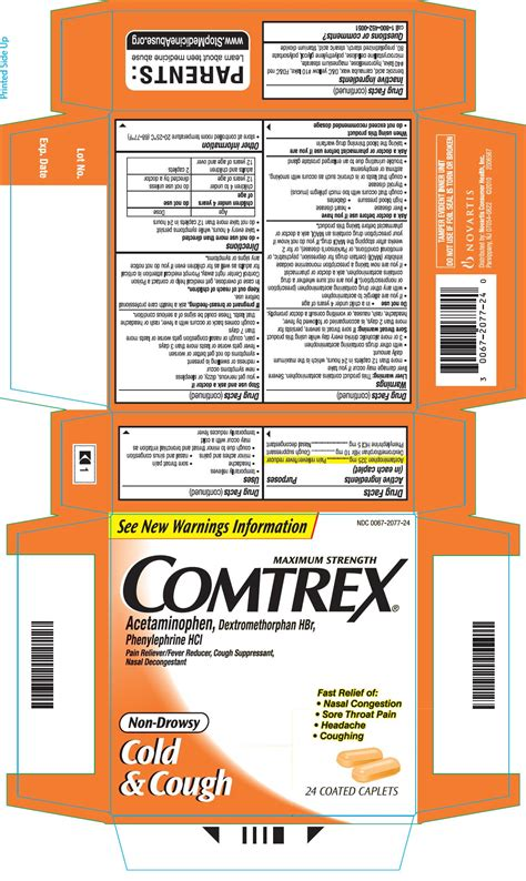 COMTREX Maximum Strength Cold and Cough Non-Drowsy (tablet