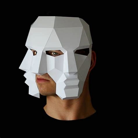 Three Face Mask - Make this 3D mask with this PDF download