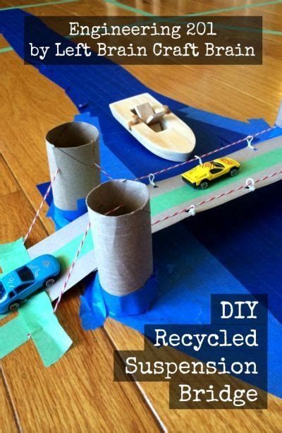Make your own suspension bridge out of recycled materials