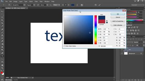 How to Change Text Color in Photoshop CS6 - YouTube