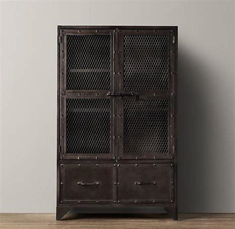 Vintage Industrial Steel Cabinet I RH Baby and Child