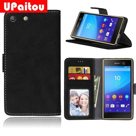 UPaitou Frosted PU Leather Case For Sony Xperia M5 Wallet
