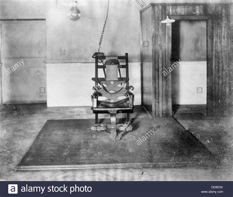 The electric chair in Auburn State Prison, New York State