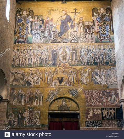12th century mosaic of the Last Judgement, the Cathedral