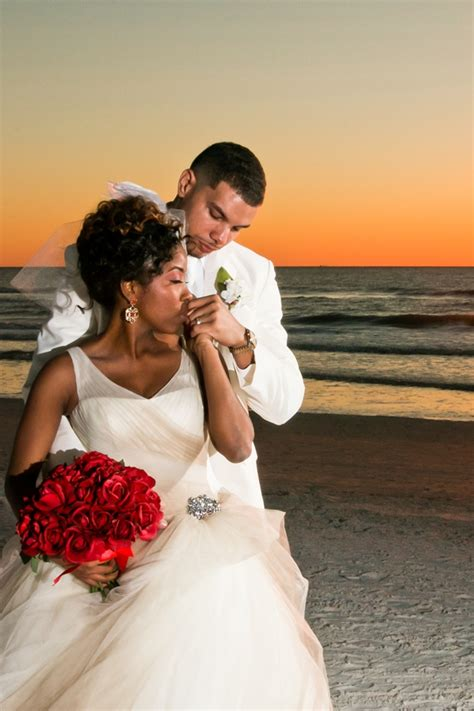 A Glamorous Red and White Beach Wedding in Florida